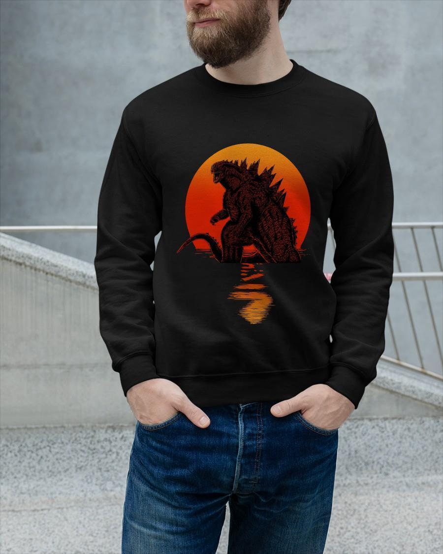 Sunset The Godzilla Sweater
