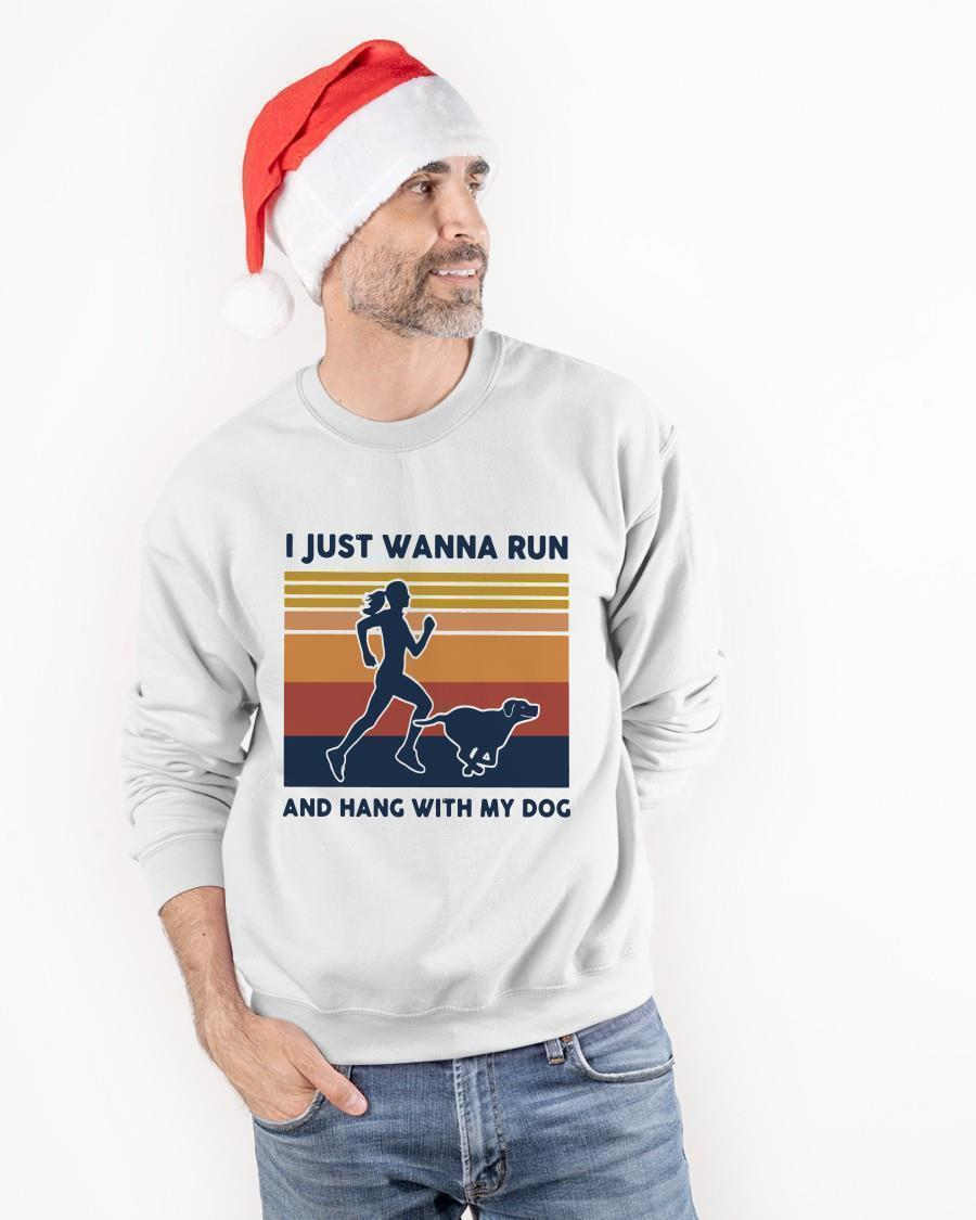 Vintage I Just Wanna Run And Hang With My Dog Sweater