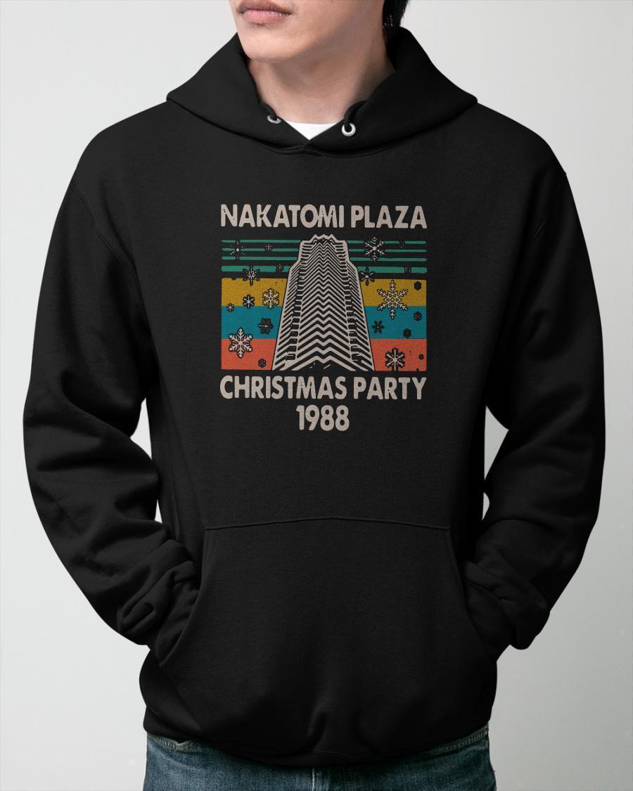Vintage Nakatomi Plaza Christmas Party Hoodie