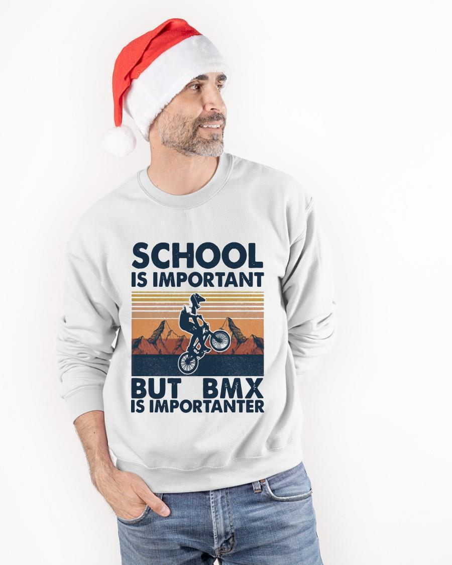 Vintage School Is Important But Bmx Is Importanter Sweater