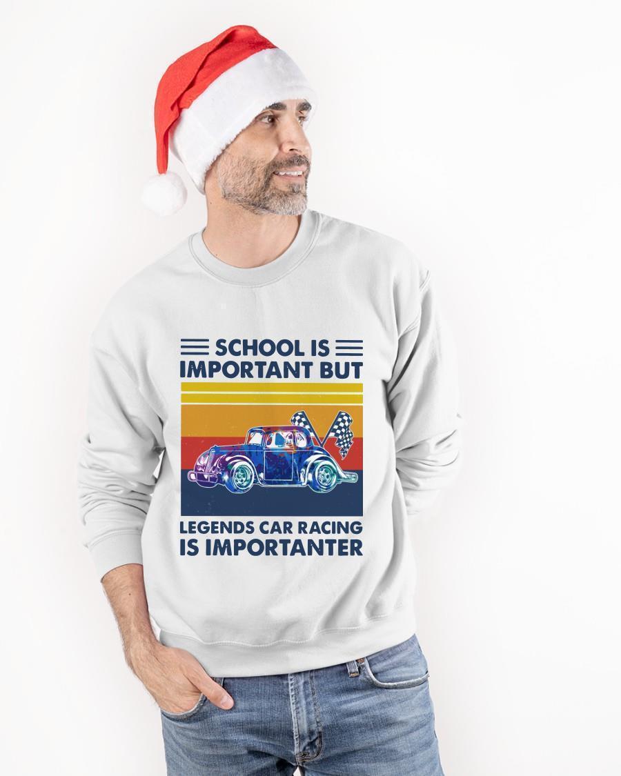 Vintage School Is Important But Legends Car Racing Is Importanter Tank Top
