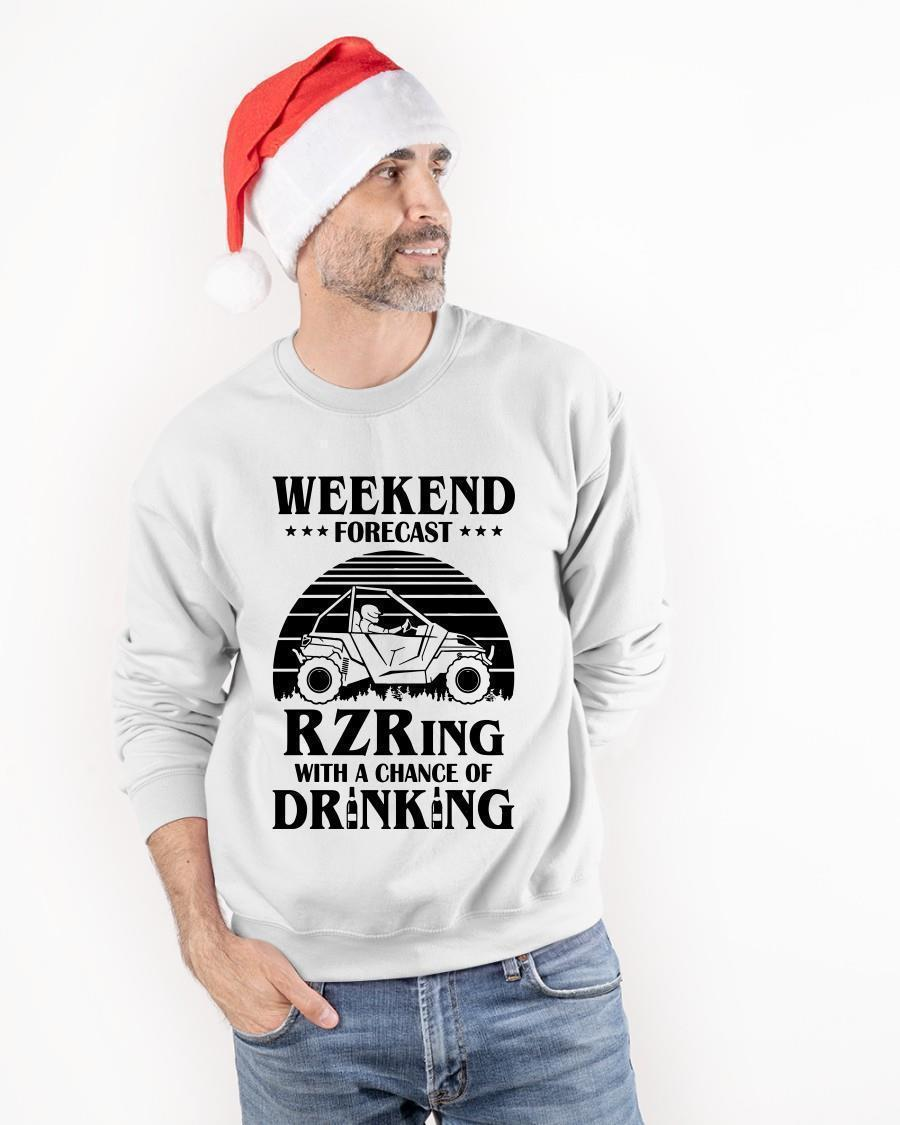 Weekend Forecast Rzring With A Chance Of Drinking Longsleeve