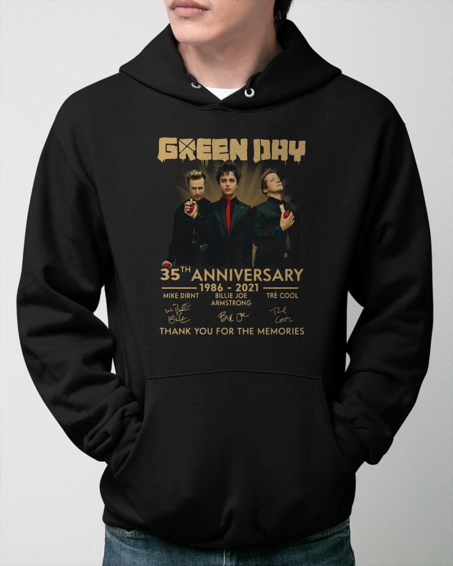 Green Day 35th Anniversary Thank You For The Memories Hoodie