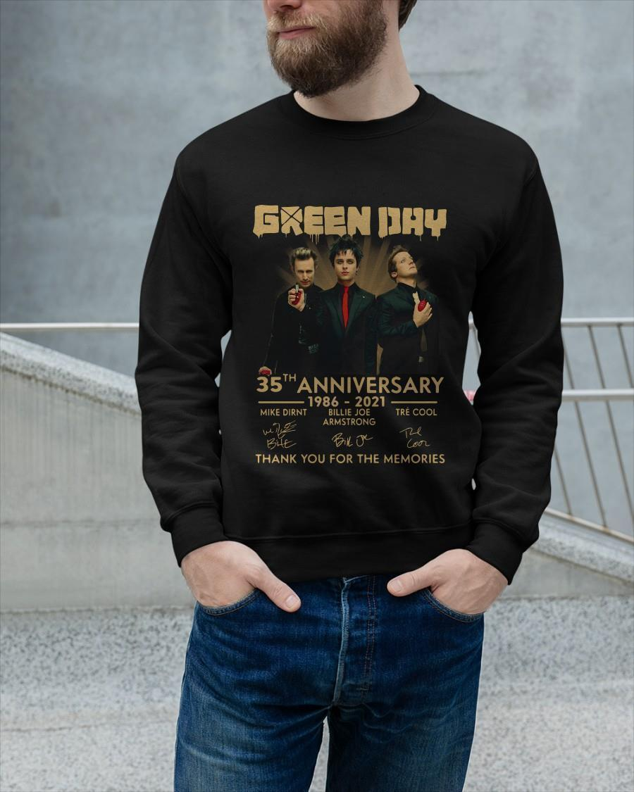 Green Day 35th Anniversary Thank You For The Memories Longsleeve