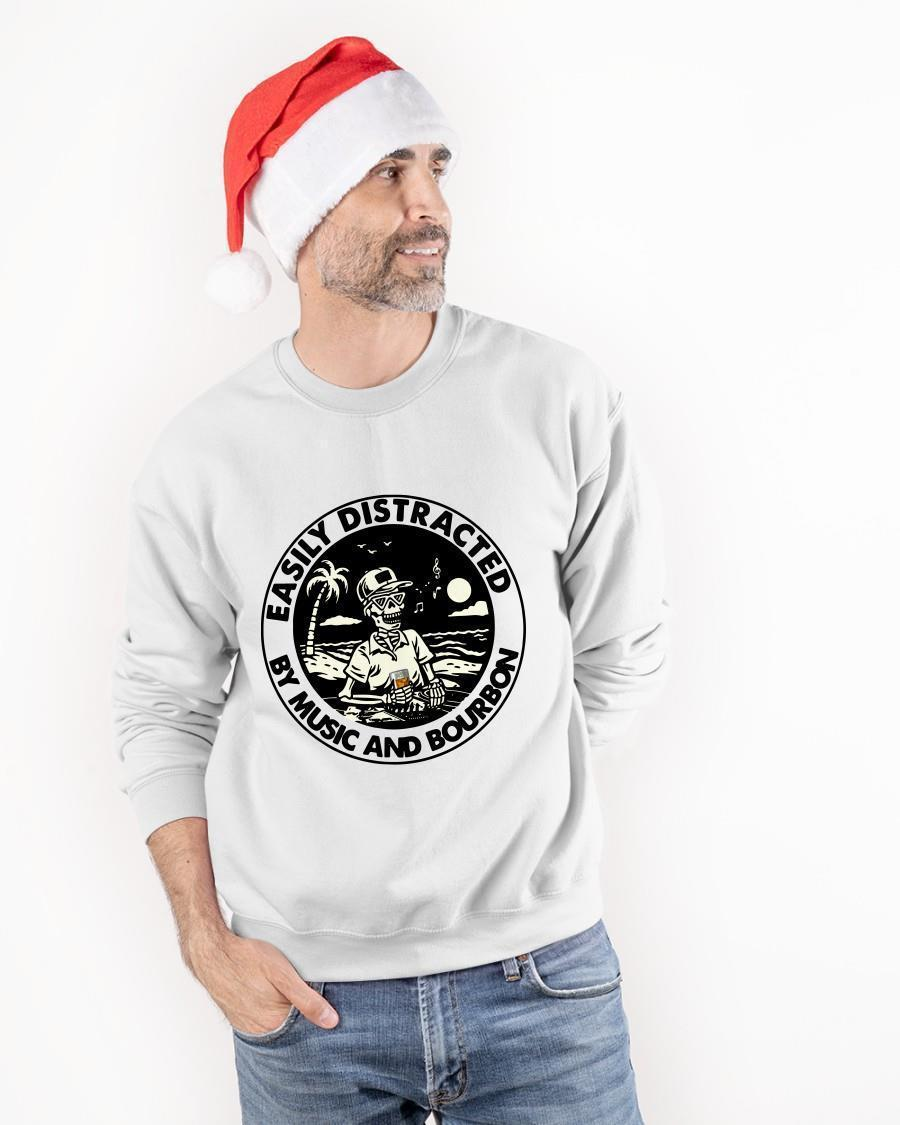 Jack Skellington Easily Distracted By Music And Bourbon Longsleeve