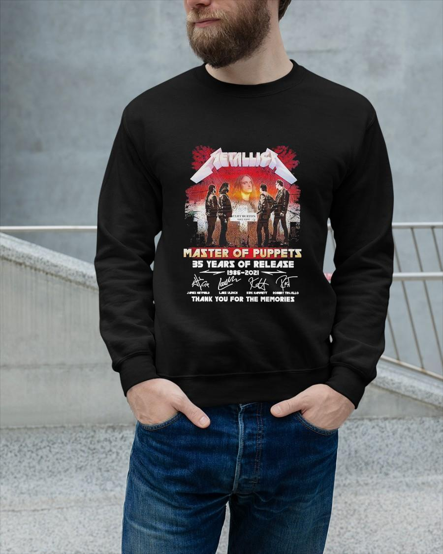 Metallica Master Of Puppets 35 Years Of Release Longsleeve
