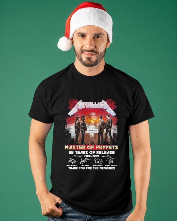 Metallica Master Of Puppets 35 Years Of Release Shirt
