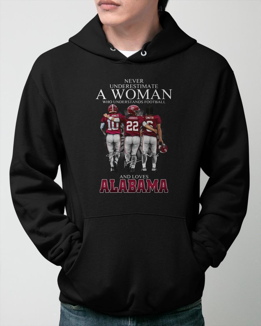 Never Underestimate A Woman Who Understands Football And Loves Alabama Hoodie