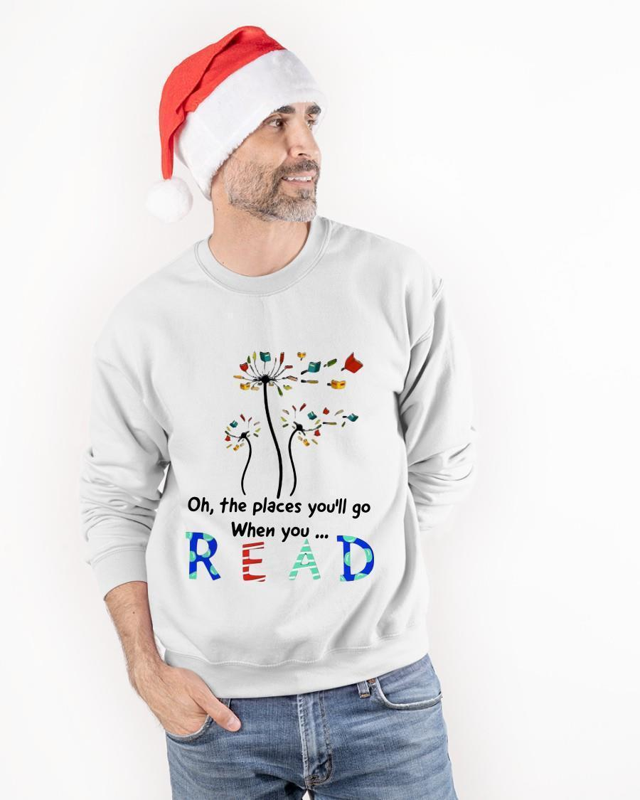 Oh The Places You'll Go When You Read Longsleeve