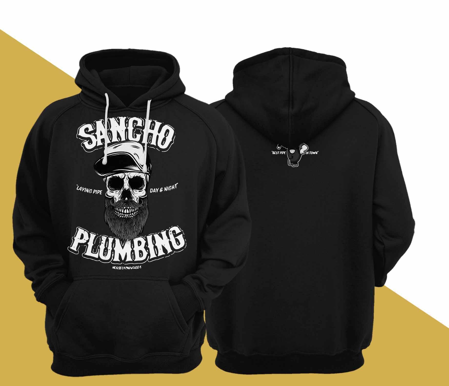 Sancho Plumbing Laying Pipe Day And Night Hoodie