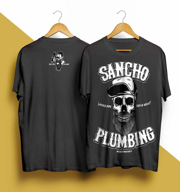Sancho Plumbing Laying Pipe Day And Night Shirt