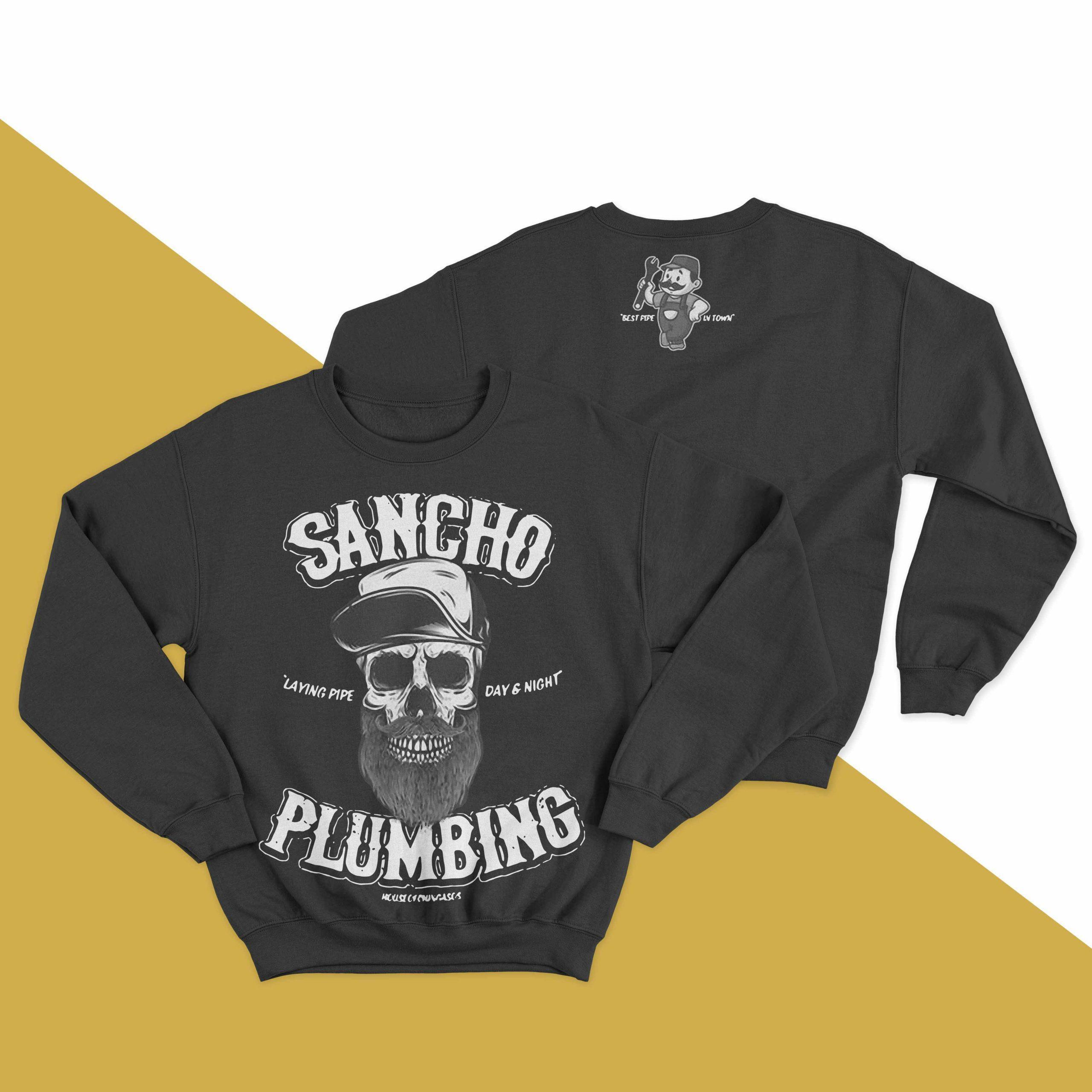 Sancho Plumbing Laying Pipe Day And Night Sweater