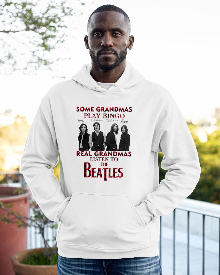 Some Grandmas Knit Real Grandmas Listen To The Beatles Hoodie