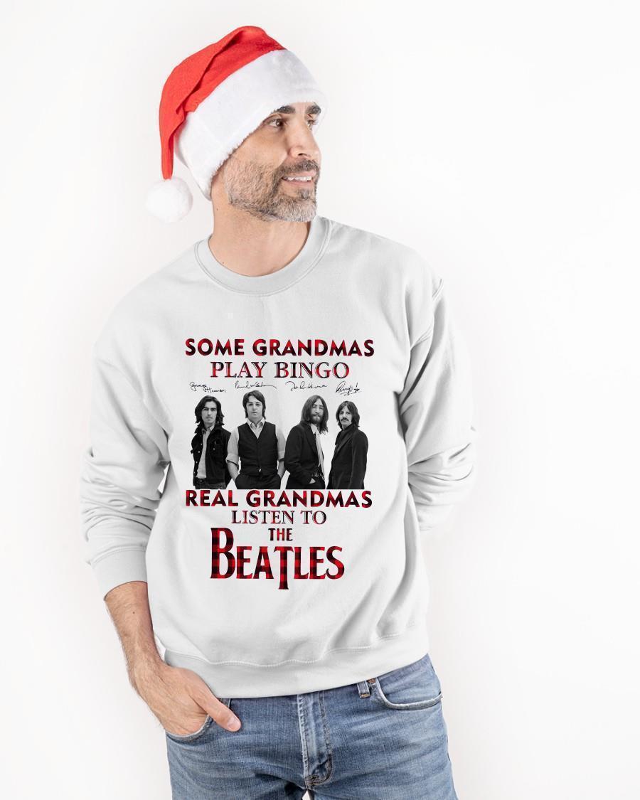 Some Grandmas Knit Real Grandmas Listen To The Beatles Sweater