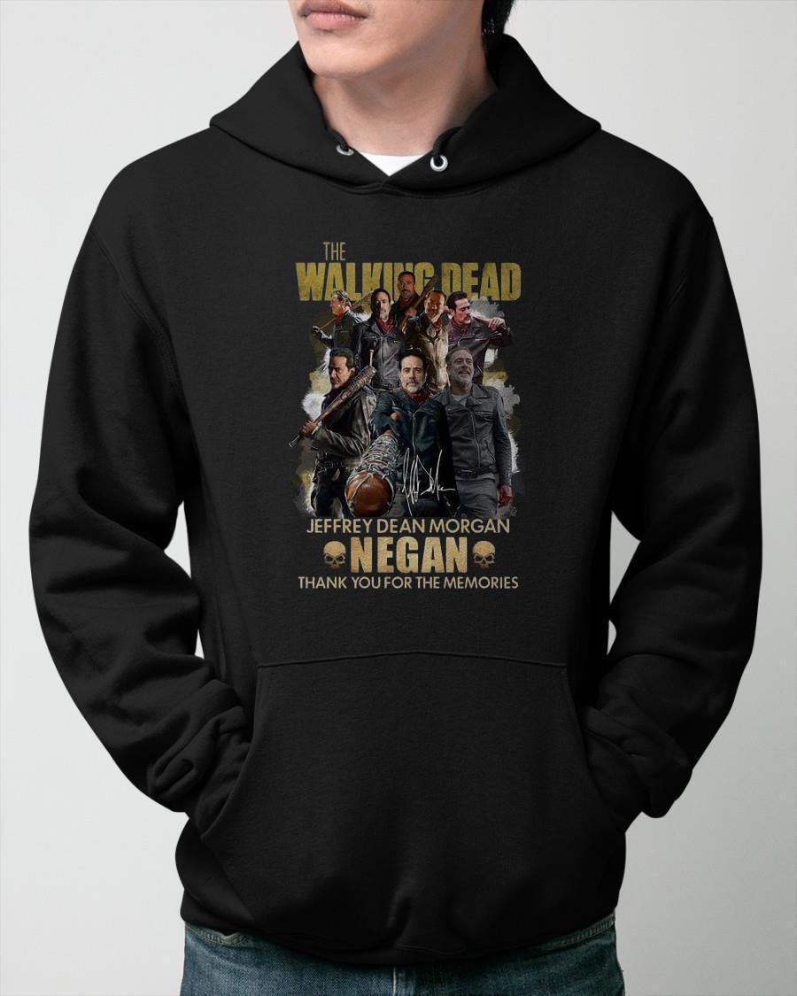 The Walking Dead Jeffrey Dean Morgan Negan Thank You For The Memories Hoodie