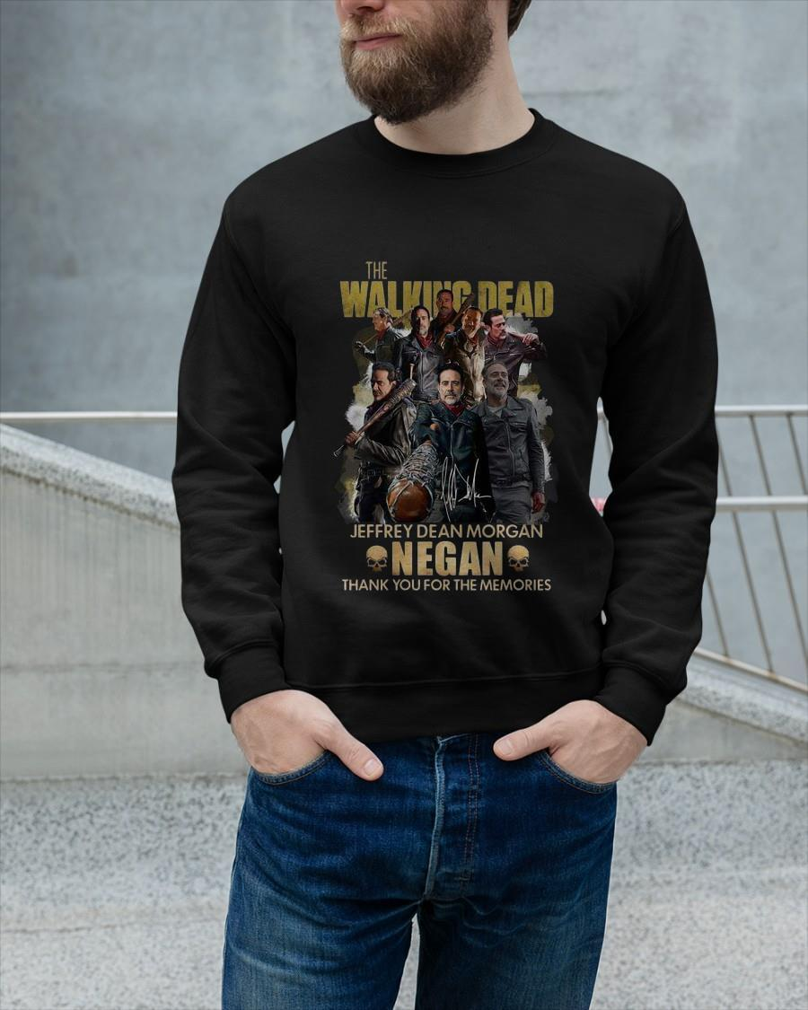The Walking Dead Jeffrey Dean Morgan Negan Thank You For The Memories Longsleeve