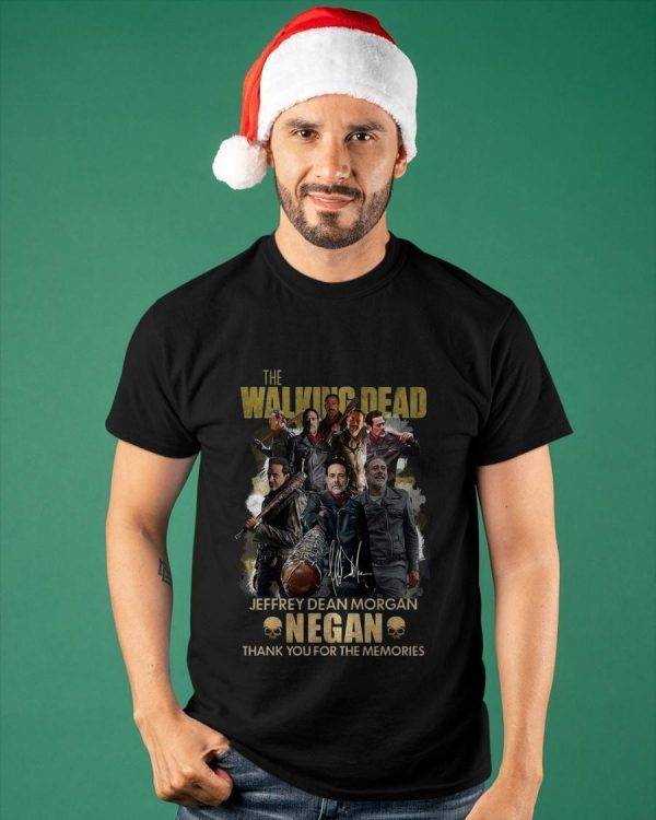 The Walking Dead Jeffrey Dean Morgan Negan Thank You For The Memories Shirt