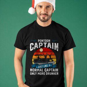 Vintage Just Like A Normal Only More Drummer Pontoon Captain T Shirt