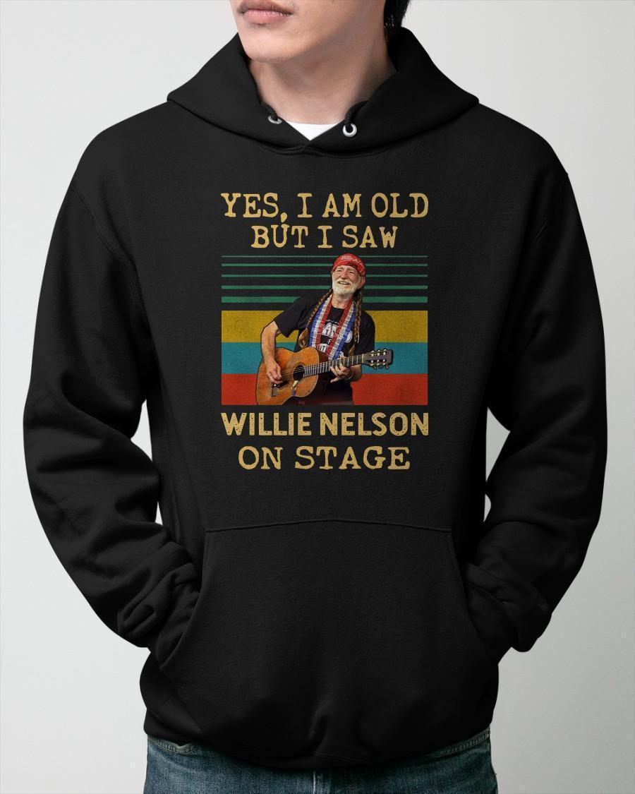 Vintage Yes I Am Old But I Saw Willie Nelson On Stage Hoodie