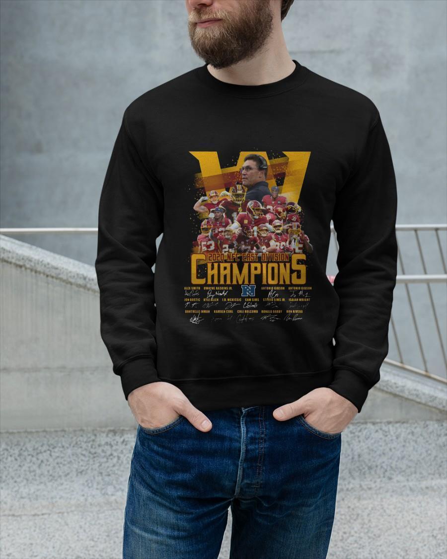 Washington Redskins 2020 Nfc East Division Champions Longsleeve