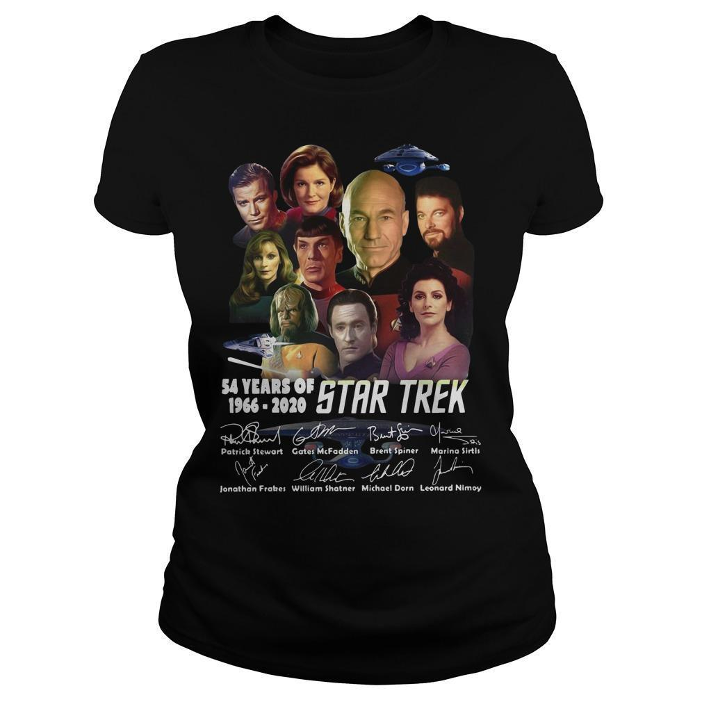 54 Years Of Star Trek 1966 2020 Characters Signatures Longsleeve