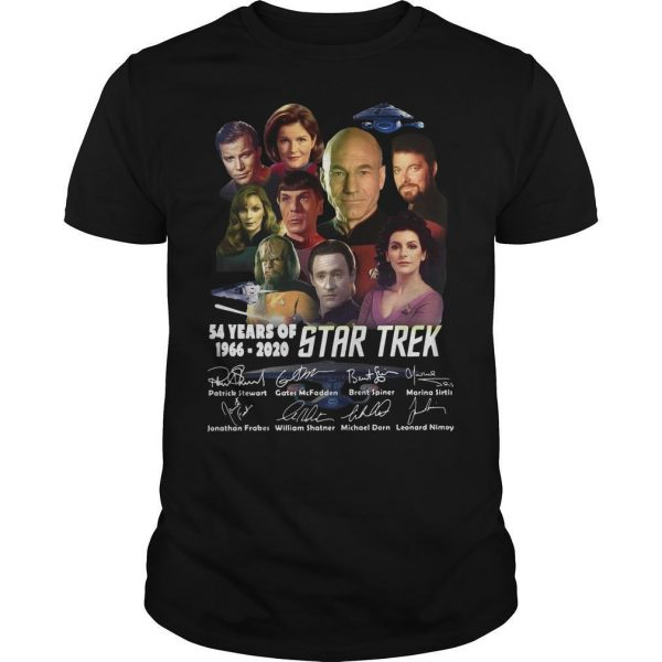 54 Years Of Star Trek 1966 2020 Characters Signatures Shirt