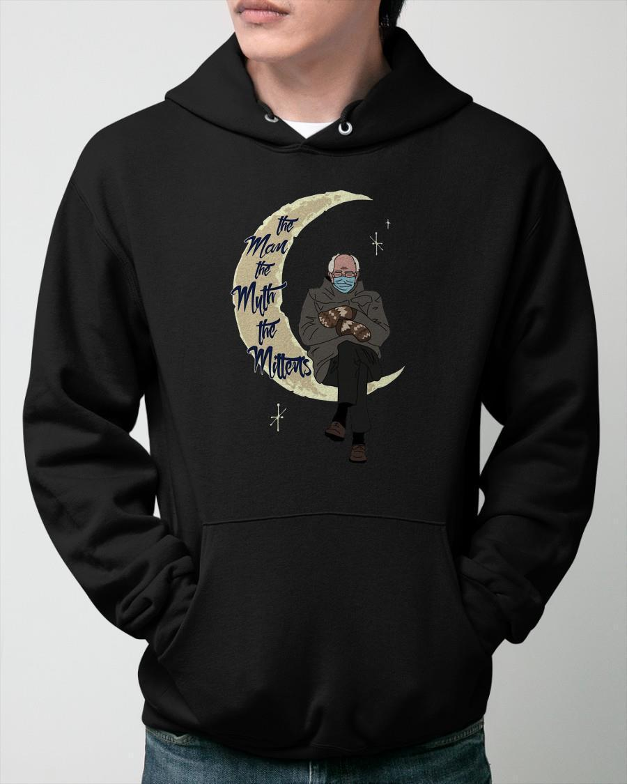 Bernie On The Moon The Man The Myth The Mittens Hoodie