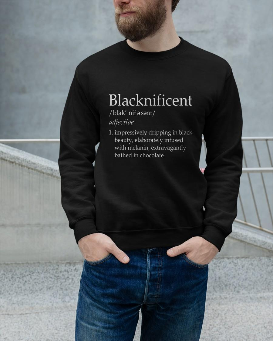 Blacknificent Impressively Dripping In Black Beauty Sweater