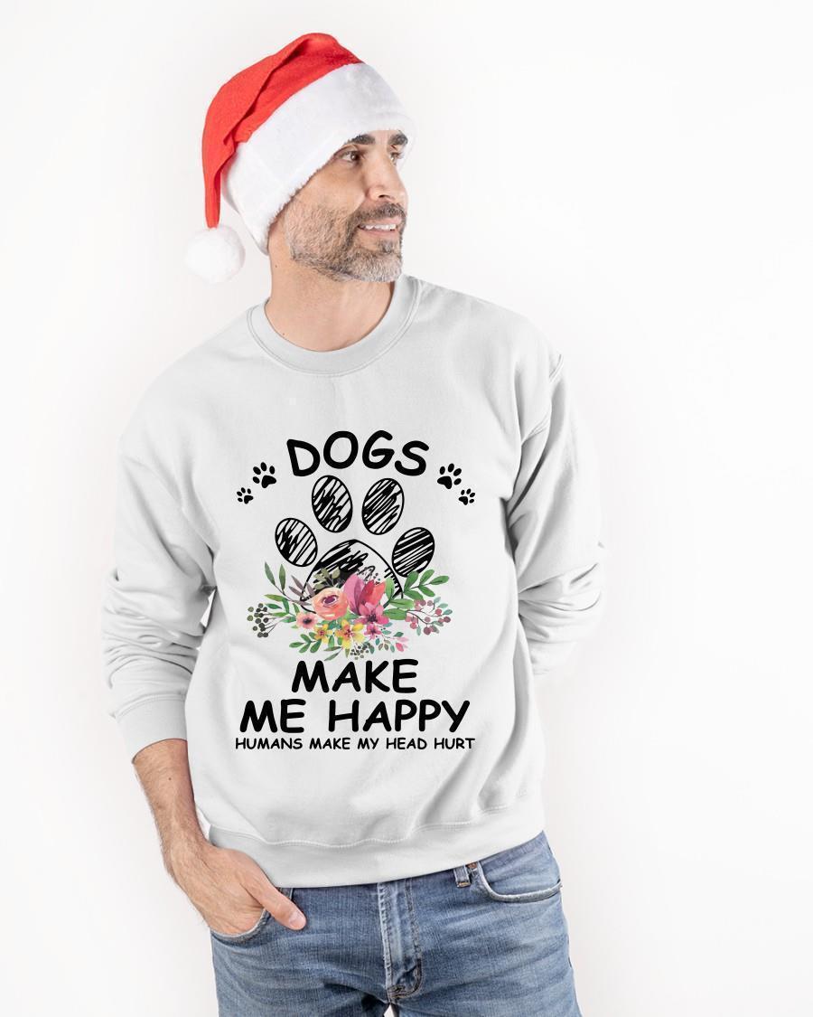 Paw Dogs Make Me Happy Humans Make My Head Hurt Tank Top