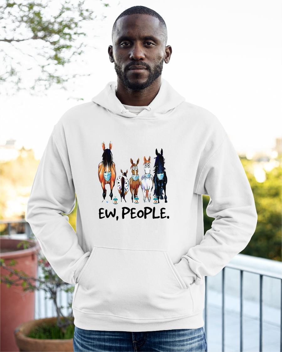 With Cows Face Mask 2021 Ew People Hoodie