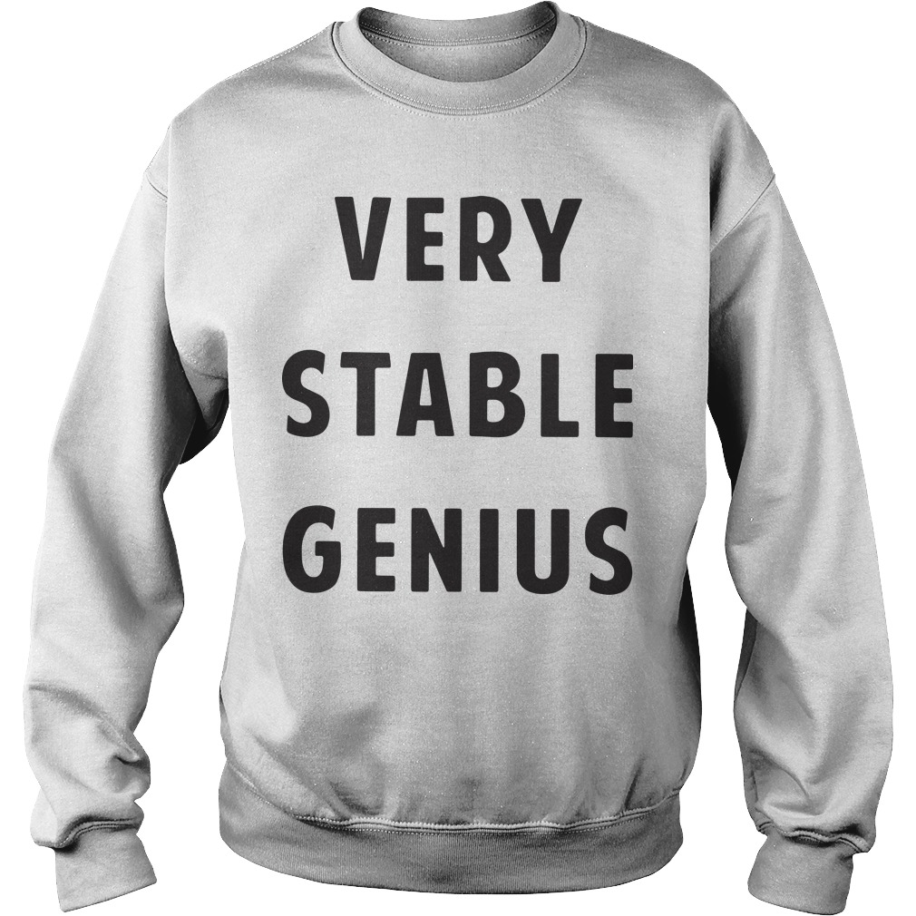 Donald Trump's Nevada Rally Very Stable Genius Sweater