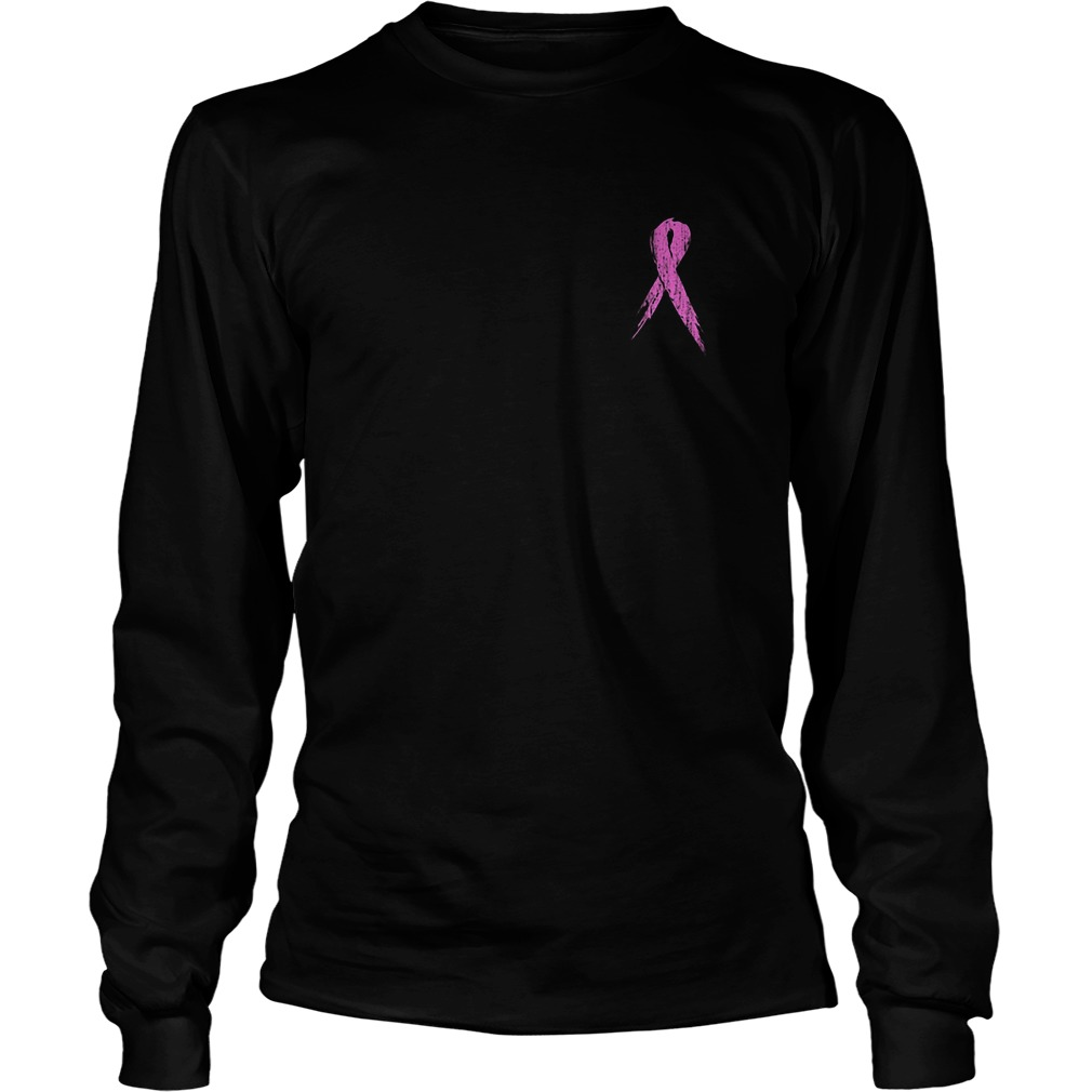 No One Fights Alone Breast Cancer Awareness Longsleeve