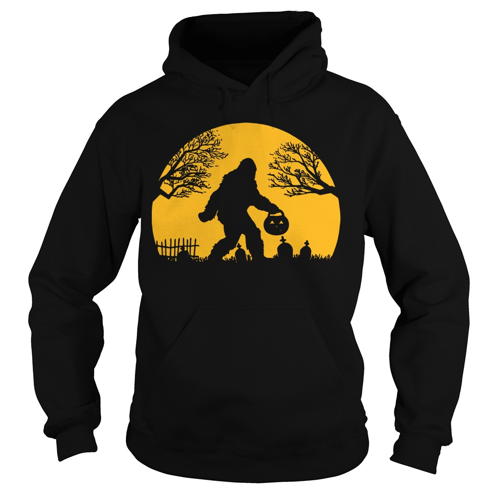 Bigfoot Halloween Hide And Seek Hoodie