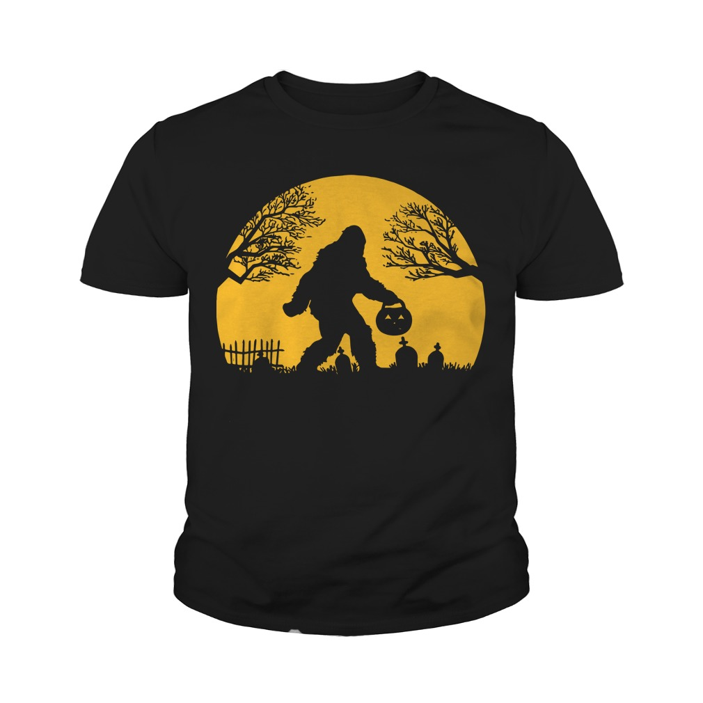 Bigfoot Halloween Hide And Seek Youth Tee