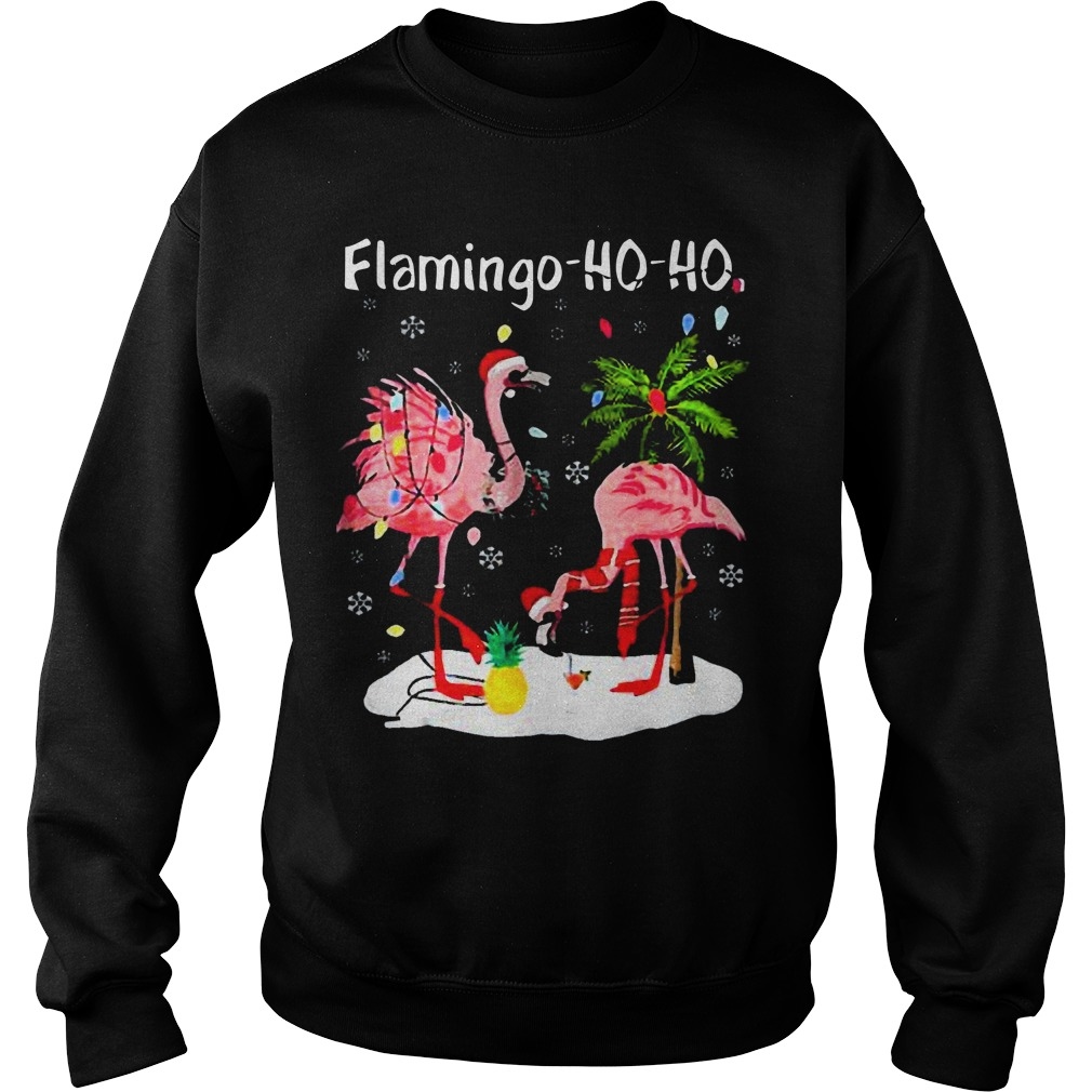 Flamingo Ho Ho Christmas Sweater