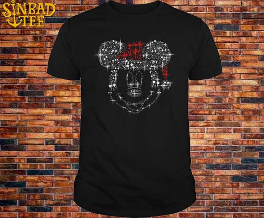 Rhinestone Mickey Mouse Santa Claus Hat Shirt