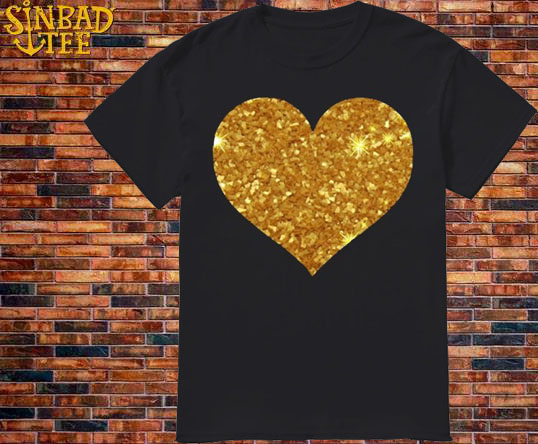 Gold Heart Shirt