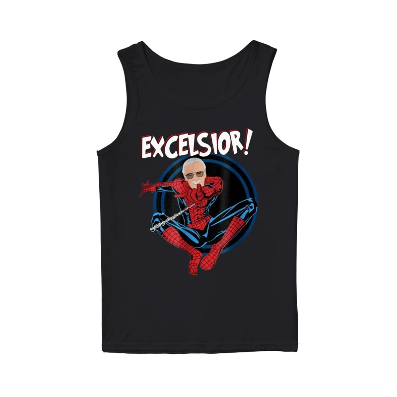 Stan Lee With Spiderman Excelsior Tank Top
