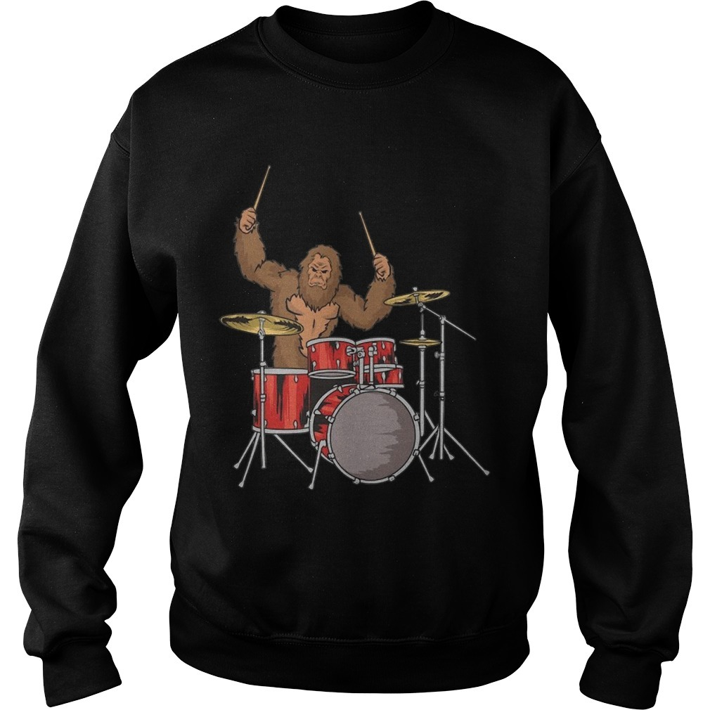 Drummer Shirt Gifts Sasquatch Bigfoot Drum Player Sweater