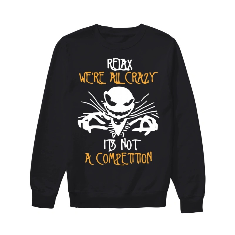 Jack Skellington We're All Crazy It's Not A Sweater