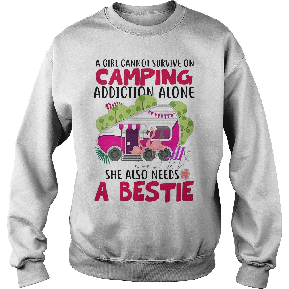 A Girl Cannot Survive On Camping Addiction Alone She Also Needs A Bestie Sweater