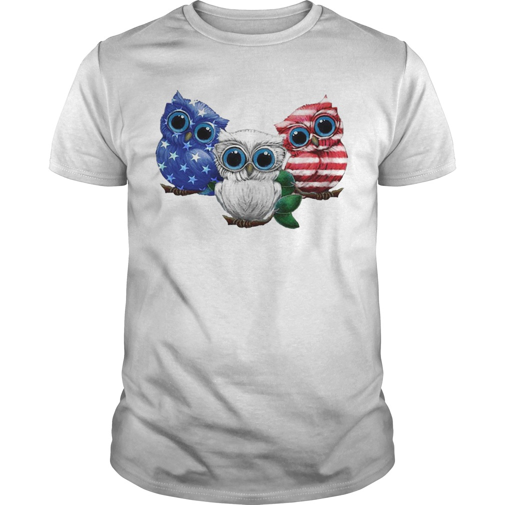 Owls American Flag Shirt