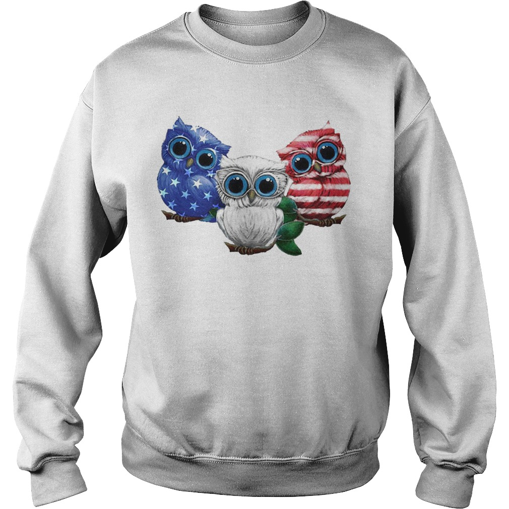 Owls American Flag Sweater