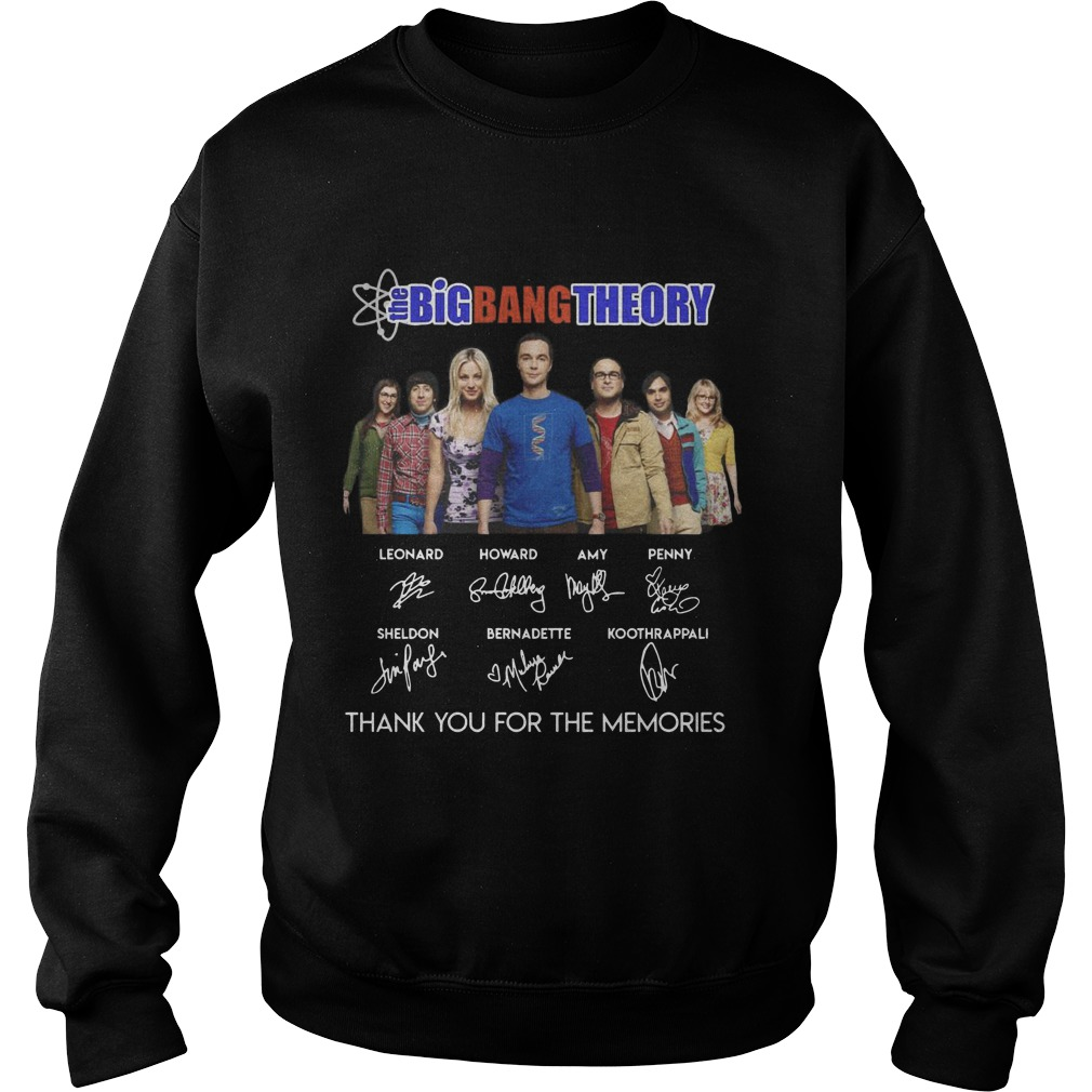 The Big Bang Theory Thank You For The Memories Signatures Sweater
