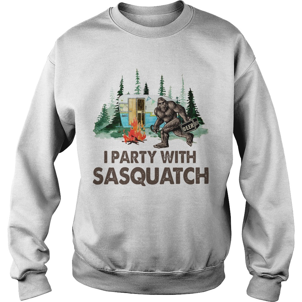 Bigfoot Camping I Party With Sasquatch Sweater