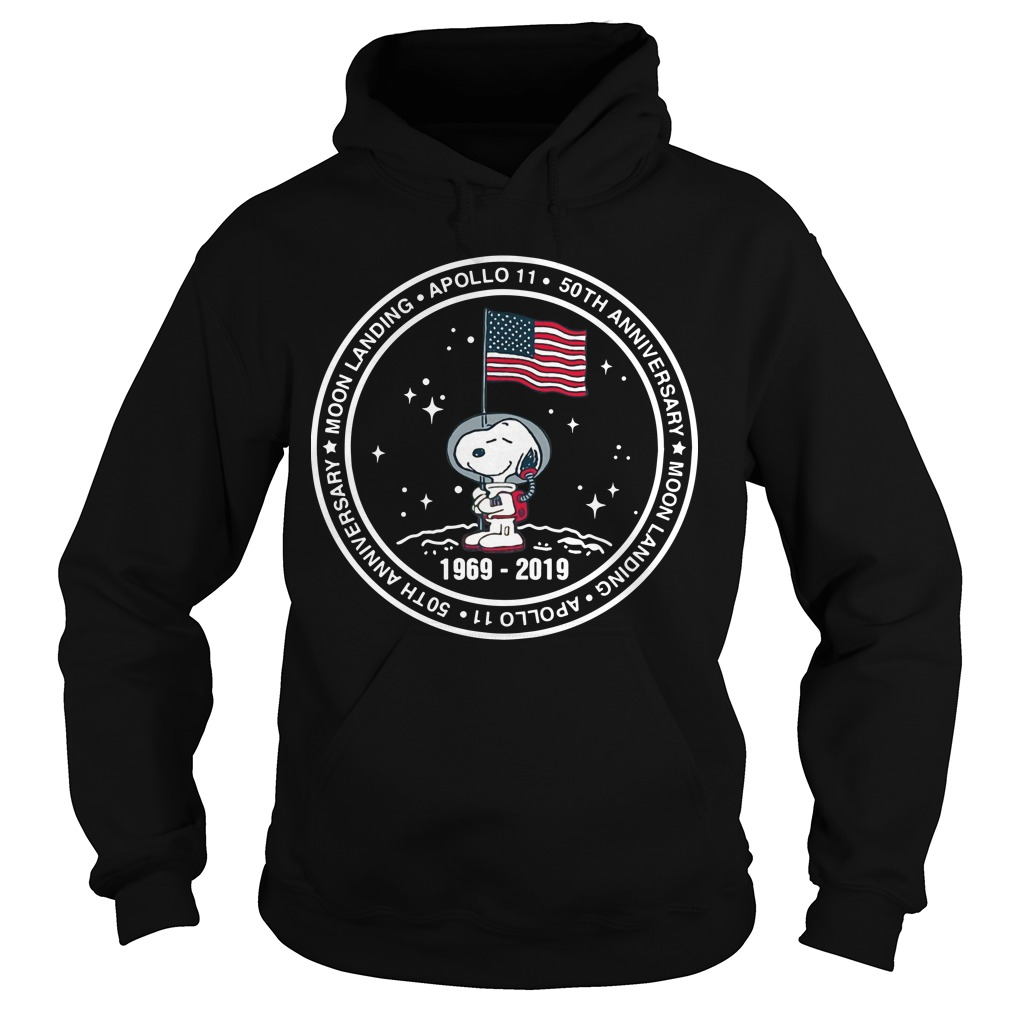 Snoopy Apollo 11 50th Anniversary Moon Landing Hoodie