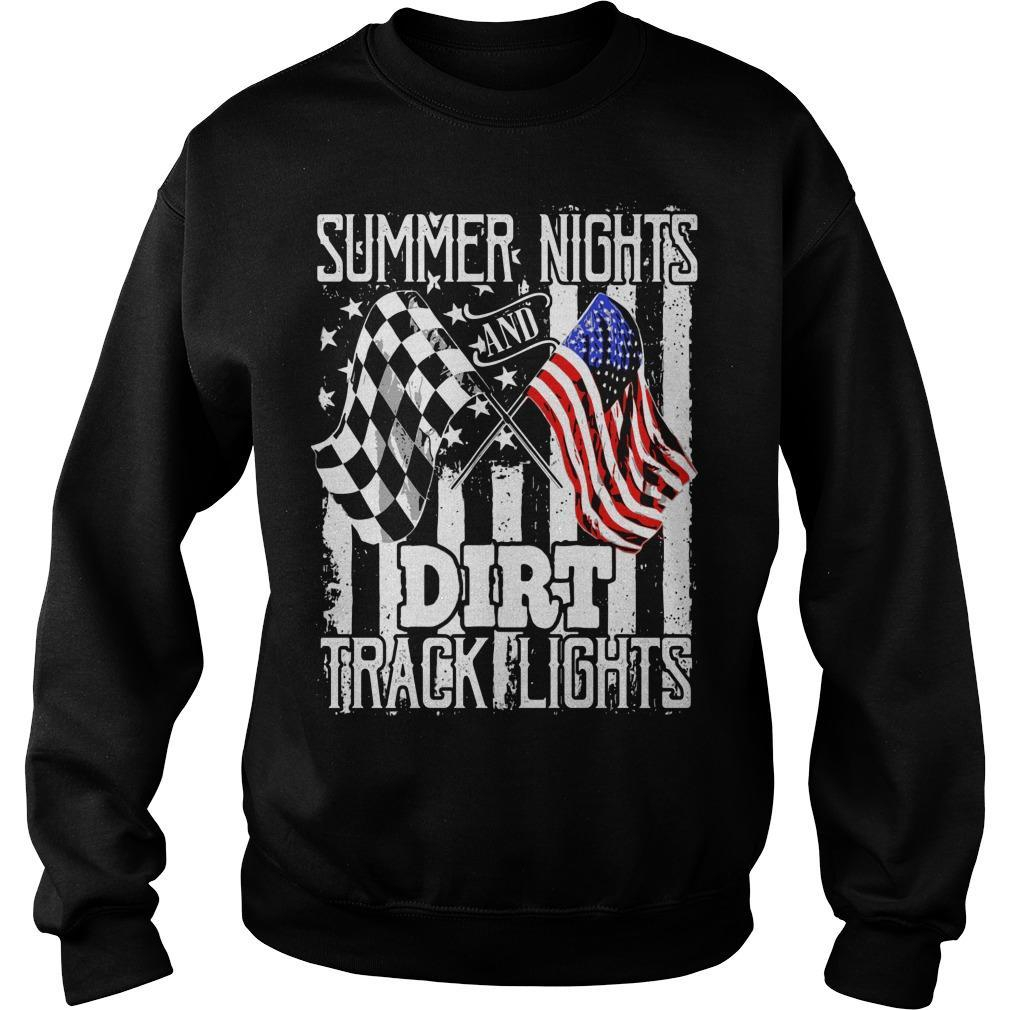 American Flag Summer Nights Dirt Track Lights Sweater