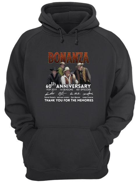 Bonanza 60th Anniversary Thank You For The Memories Signatures Hoodie