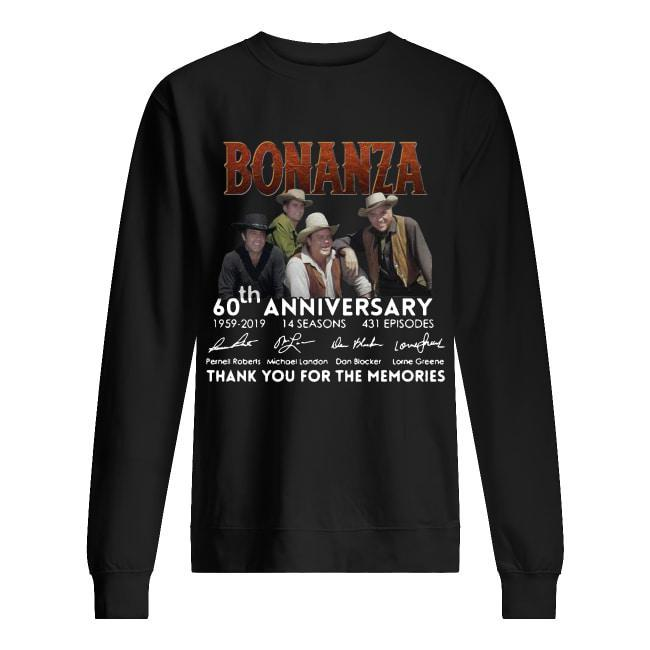 Bonanza 60th Anniversary Thank You For The Memories Signatures Sweater