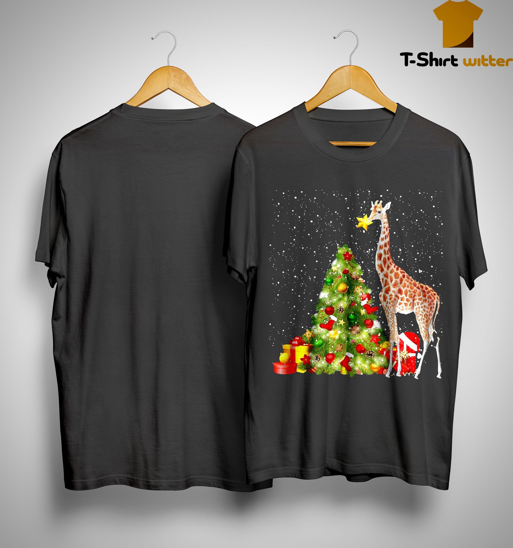 Giraffe Christmas Tree Shirt